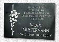 Grabstein Gedenktafel Grabplatte Tiergrabstein Gedenkplatte Rosenkreuz 22x16 cm
