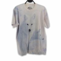 VTG Y2K The Mountain White Wolf Short Sleeve T Shirt Tee Mens Medium Jon Naito