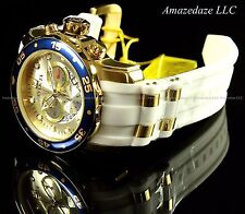 NEW Invicta Men Pro Diver Scuba 18k Gold Plated Stainless Steel Gold Dial Watch
