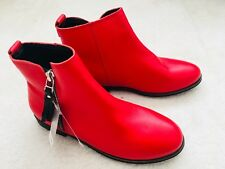 Brand New Girls Red Ankle Boots Size UK 1 From Next