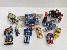 Lot of 11 Vintage Transformers W.E.P, Takara, Bandai Parts or Repair