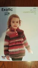 Naturally Knitting Pattern #K751 Girl's Tunic to Knit in Crazy Days Yarn 12 Ply