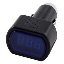 Voltmetro Voltmetro per auto voltmetro LCD digitale per accendisigari Nero R8C0