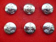 LOT OF 6 CANADIAN QUEBEC POLICE ANODISED ALUMINIUM TUNIC  BUTTONS 16MM