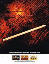 PUBLICITE  ADVERTISING  1991   SAMSON     tabac & feuile de papier