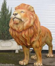 XXXXL LÖWE lebensgroß Deko Garten Tier Figur Tierpark KING LION WILDTIER LÖWEN