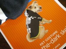 Pet GLOW IN DARK SKELETON Costume L New DOG Skull Hood LARGE Hoodie