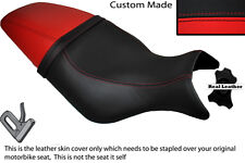 BLACK & RED CUSTOM FITS BUELL CYCLONE M2 99-02 LEATHER DUAL SEAT COVER