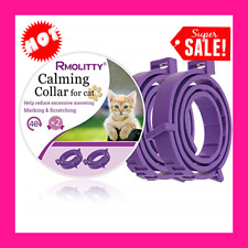 Cats Kittens Calming Collar, Relieve, Reduce Anxiety Stress Adjustable 2 Pack