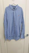 Ralph Lauren button up shirt XL blue and white stripes