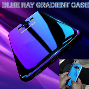 Blu Ray Gradient Colour Mirror Case Cover For iPhone & Samsung Galaxy Models UK