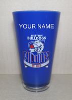 Brand New Genuine AFL Merchandise Bulldogs Print Plastic Tumbler Personalised