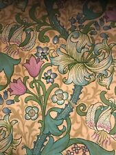"""VINTAGE WILLIAM MORRIS FABRIC """"GOLDEN LILY MINES"""" by SANDERSON"""