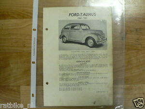 FO03-FORD  TAUNUS 1950-1951 -TECHNICAL INFO