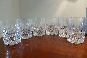 6 x Vintage Cut Lead Crystal Whisky Tumblers 9.5 cm High 7.5cmm Rim-VGC 350G eac