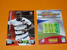 MONTANO ROAZHON STADE RENNES FOOTBALL FOOT ADRENALYN CARD PANINI 2010-2011