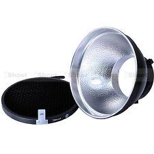 18cm Photo Lamp Shade Reflector+Honeycomb Grid for Bowens Studio Strobe Flash