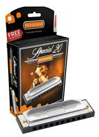 HOHNER Special 20 Harmonica, Key of A, Made in Germany, Includes Case, 560BL-A