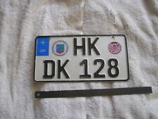 Vintage German  Germany License Plate
