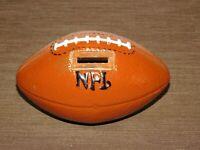 "VINTAGE 6 1/2"" LONG CERAMIC FOOTBALL NFL COIN BANK"