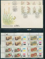 South Africa States Ciskei Wildlife Plants Blocks MNH + Covers (Appx 40+(W1580