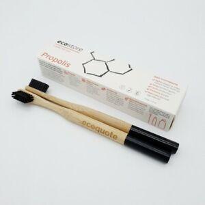 ecostore Propolis Toothpaste Set 2 x Bamboo Toothbrush Handmade Eco-Friendly