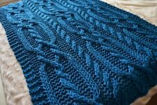 Cable Knit Blanket In Crocheting Knitting Patterns For Sale Ebay