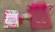 NWT Lilly Pulitzer Boca Hinged Bangle Bracelet Turquoise Let's Cha Cha