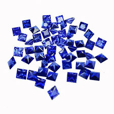 BEAUTIFUL 10.50 CT SQUARE SHAPE 3X3 MM LOT OF 54 PC BLUE SAPPHIRE (LAB CORUNDUM)