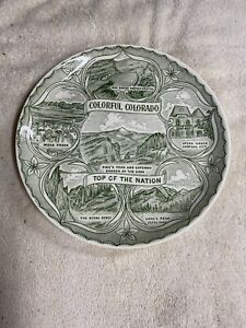 "Colorado 9.25"" Vintage Collectable Souvenir State Collector Plate"