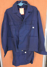 Vintage Work Suit Jacket & Pants Workwear Indigo Blue New with Tags Size L