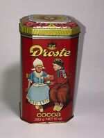 Vtg Droste Chocolate Cocoa Cacao Tin Can Advertising 1984 Dutch Kids - England