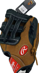 Rawlings 12.75 Leather Outfield Baseball Glove New Tags D127HB Zero Shock MLB