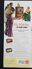 1950 Zenith radio and television black magic color vintage ad