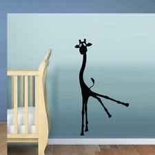 Wall Decal Giraffe Animal Cheerful Funny Cartoon HeNursery Family M423
