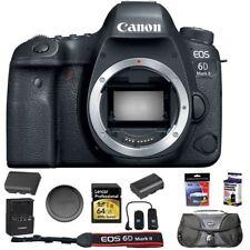 Canon EOS 6D Mark II DSLR Camera Body with 64GB Memory Card Bag Remote + More