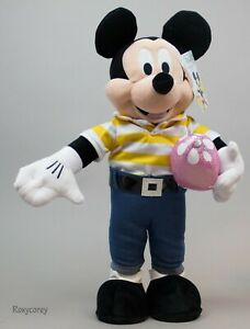 Holiday Disney 23 in Tall Mickey Mouse with Easter Egg Greeter NWT