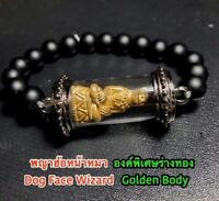 Thai Amulet Dog Face Wizard's Fang charm,attract eyes /& persuade Phra Arjarn O
