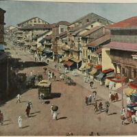India Bombay 1890s Book w/ color photos of Calcutta Hyderabad Bangalore Mysore