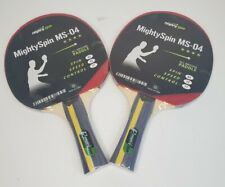 Table Tennis Ping Pong Paddles Set of 2☆ Mighty Spin Paddles☆ NEW • SEALED☆