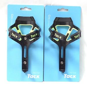 Tacx Ciro Carbon Water Bottle Cages Fluo Yellow Pair