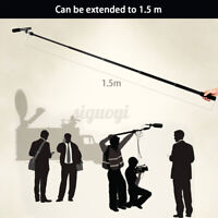 Micro Boom Pole Microphone Mic Holder 5 Section Arm Stand for Studio