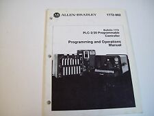 Allen-Bradley 1772-802 Plc-2/20 Programmable & Operations Manual 955090-99A