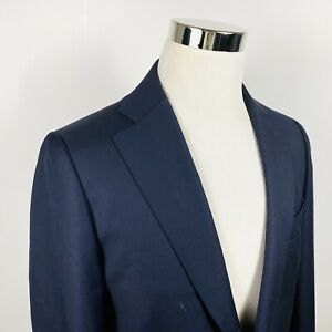 Suitsupply Mens 40R Sport Coat Navy Blue Super 110s Wool Two Button Double Vents