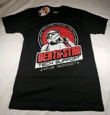 Licensed Star Wars Death Star Tech Support  Mens   Black T-Shirt Size Med