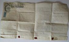 1713 Queen Anne Vellum Indenture Sir George Savile of Rufford English Politician
