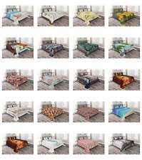 Decorative Coverlet Bedspread Quilted Bed Cover Set by Ambesonne
