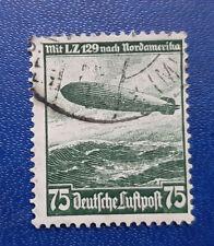 Germany Stamp Deutsches Reich Luftpost 75 Pfennig 1936 Zeppelin Mi. 607 (16721)