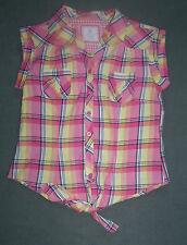 Atmosphere Waist Length Checked Tops & Shirts for Women