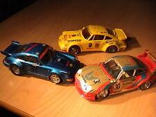 Slotcar 1:24 Plafit Metallfahrwerk Porsche 911 GT3  2x Porsche 911 Turbo Tunning